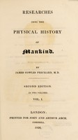 view Researches into the physical history of mankind / [James Cowles Prichard].