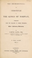 view The Heimskringla; or, chronicle of the kings of Norway