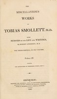 view The miscellaneous works of Tobias Smollett, M.D. with memoirs of his life and writings