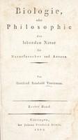 view Biologie, oder Philosophie der lebenden Natur für Naturforscher und Aerzte / Von Gottfried Reinhold Treviranus.