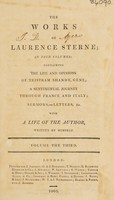 view The works of Laurence Sterne ... / with a life of the author, written by himself.