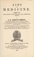 view Aids to medicine / by C.E. Armand Semple.
