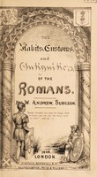 view The habits, customs, and antiquities of the Romans / [W. Andrew].