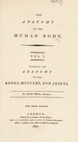 view The anatomy of the human body / By John Bell.