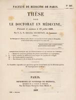 view Thèse pour le doctorat en médecine : présentée et soutenue le 19 juillet 1839, / par C.-L.-S.-Adolphe Secretan, de Lausanne (Suisse) ... Considérations pratiques sur les rétrécissements et les fistules de l'urèthre. ... [etc].