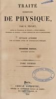 view Traité élémentaire de physique / [Jean Claude Eugène Péclet].