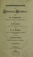 view Grondbeginselen der ziektekundige ontleedkunde. Deel I, Algemeene ziektekundige ontleedkunde / Uit het Fransch, naar de tweede uitgave, door E.C. Buchner.