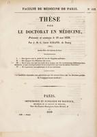 view Thèse pour le doctorat en médecine : présentée et soutenue le 16 mai 1839. I, Des égouts sous le point de vue de l'hygiène publique. ... [etc.] / par J.-M.-L.-Léon Sirand.
