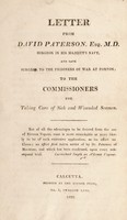 view Letter ... to the commissioners for taking care of sick and wounded seamen
