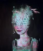 view Hidden Learning : Chrysallis, paintings exploring women in science.