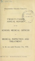 view [Report 1930] / School Medical Officer of Health, Gloucestershire County Council.