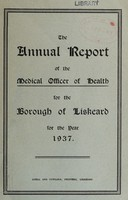 view [Report 1937] / Medical Officer of Health, Liskeard Borough.