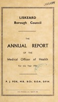 view [Report 1951] / Medical Officer of Health, Liskeard Borough.
