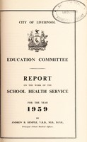 view [Report 1959] / School Medical Officer of Health, Liverpool.