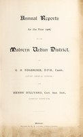 view [Report 1906] / Medical Officer of Health, Malvern U.D.C.