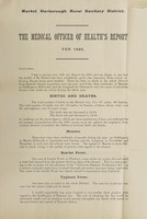 view [Report 1895] / Medical Officer of Health, Market Harborough R.D.C.