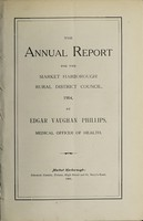 view [Report 1904] / Medical Officer of Health, Market Harborough R.D.C.