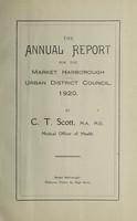 view [Report 1920] / Medical Officer of Health, Market Harborough U.D.C.