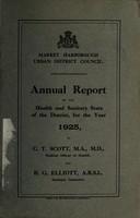 view [Report 1925] / Medical Officer of Health, Market Harborough U.D.C.