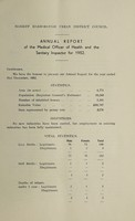 view [Report 1952] / Medical Officer of Health, Market Harborough U.D.C.