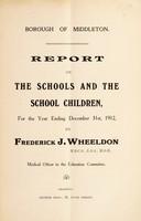 view [Report 1912] / School Health Services, Middleton Borough.
