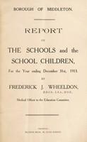 view [Report 1913] / School Health Services, Middleton Borough.