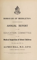 view [Report 1919] / School Health Services, Middleton Borough.