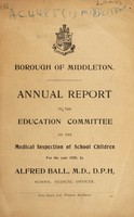 view [Report 1920] / School Health Services, Middleton Borough.