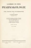 view Lehrbuch der Pharmakologie : für Ärzte und Studierende / von E. Polsson ; ... übersetzt von Friedrich Leskien.