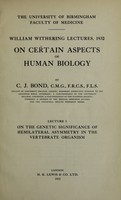 view On certain aspects of human biology