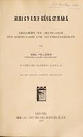 view Gehirn und Rückenmark : Leitfaden für das Studium der Morphologie und des Faserverlaufs / von Emil Villiger.