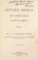 view Historia médica de Venezuela hasta 1900
