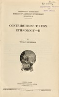 view Contributions to Fox ethnology