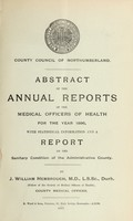 view [Report 1896] / Medical Officer of Health, Northumberland County Council.