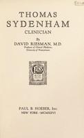 view Thomas Sydenham, clinician