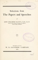 view Selections from the papers and speeches of John Chalmers DaCosta.