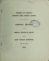 view [Report 1953] / Medical Officer of Health, Oswestry Borough & R.D.C.