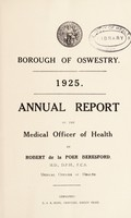 view [Report 1925] / Medical Officer of Health, Oswestry Borough.