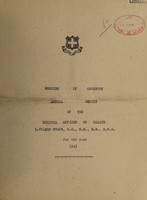 view [Report 1943] / Medical Officer of Health, Oswestry Borough.
