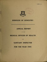 view [Report 1945] / Medical Officer of Health, Oswestry Borough.