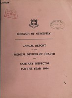 view [Report 1946] / Medical Officer of Health, Oswestry Borough.