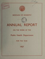 view [Report 1957] / Medical Officer of Health, Oswestry Borough.