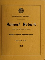 view [Report 1965] / Medical Officer of Health, Oswestry Borough.