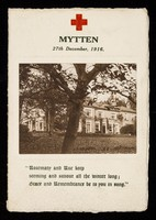 view [Fund raising concert programme at 'Mytten' 27 December 1916].