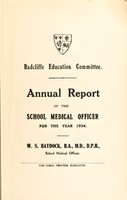 view [Report 1934] / School Medical Officer of Health, Radcliffe.