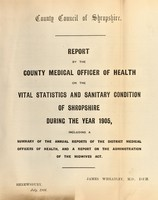 view [Report 1905] / Medical Officer of Health, Salop / Shropshire County Council.