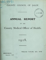 view [Report 1928] / Medical Officer of Health, Salop / Shropshire County Council.