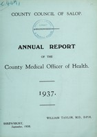 view [Report 1937] / Medical Officer of Health, Salop / Shropshire County Council.
