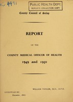 view [Report 1949-1950] / Medical Officer of Health, Salop / Shropshire County Council.