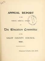 view [Report 1931] / School Medical Officer of Health, Salop / Shropshire County Council.